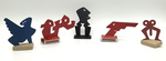 """""""Group R"""" Collection of 5 Small Maquettes by James Smith Pierce"""