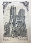 The Rheims Cathedral (Christmas Card) by Artist Unknown