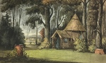 The Hermitage on the Frogmore Estate from Ackermann's Repository by John Gendall