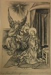 The Annunciation by Amand Durand After Martin Schongauer