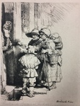 Family of Beggars at the Door by Amand Durand After Rembrandt Van Rijn