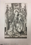 Facsimile Reproduction of Madonna and Child Enthroned by (After) Master E.S.