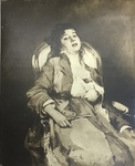 Print Reproduction of Woman in Blue by Edouard Manet by Publisher Unknown