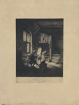 Facsimile Reproduction of Painter in his Studio by (After) Adriaen van Ostade