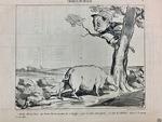 Quellel affreuse Chose que d'avoir fait la encontre de ce Sanglier... by Honoré Daumier