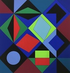 Composition - Sikra MC by Victor Vasarely