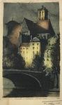 Eglise St. Gervais (Vue Des Quais) by F. Roux