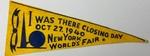 New York World's Fair Pennant