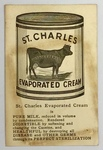 St. Charles Evaporated Cream Promotional Card