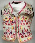 Floral design vest by Maker Unknown