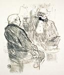 Georges Clemenceau et l'Oculiste Mayer by Henri de Toulouse-Lautrec