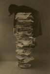 Self-portrait with Files by Kim Abeles