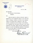 Letter from Secretary of State to Governor Langer Regarding the Irish Free State, 1933