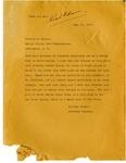Attorney General Langer to Food Commissioner Herbert Hoover, 1917 by William Langer