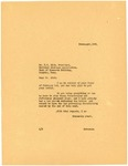 Governor Langer to the National Drainage Association regarding Farm Foreclosures, 1933