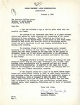 Letter from Home Owners' Loan Corporation to Governor Langer, 1934