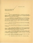 Letter from Governor Langer to Chief of the Army Air Corps Regarding Stratospheric Research Flight, 1934 by William Langer