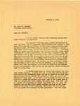 Govenor Langer to Usher Burdick regarding Financial Difficulties of the Odegaards, 1933