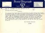 Telegraph to Gov. Langer from Oklahoma Governor regarding textbooks, 1933