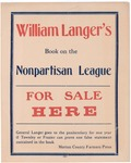 Attorney General Langer's Nonpartisan League book Ad, 1920