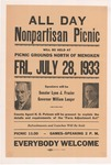 NPL Picnic in Menoken with Govenor Langer, 1933 by Capital Publishing Company