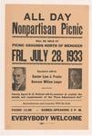 NPL Picnic in Menoken with Govenor Langer, 1933