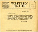 Letter from Representative William Lemke to Governor Langer, 1934
