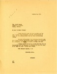 Letter to Montana Governor Cooney from Governor Langer Regarding Missouri River Diversion and Reforestation, 1933