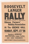 Roosevelt Langer Rally in Odense, North Dakota, 1936 by Odense Farmers' Holiday Association