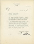 Barratt O'Hara's reply to Governor William Langer's letter of March 2, 1934