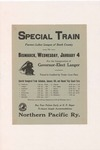 1933 Special Train for the Inauguration of Governor-Elect Langer by Northern Pacific Railway