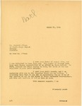 Governor William Langer Reply to Barratt O'Hara's letter of  March 10, 1934