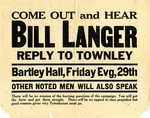 """Come Out and Hear Bill Langer"" Poster by Unknown"