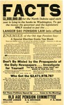 Poster Regarding Senator Langer's Old Age Pension Plan by Old Age Pension Committee
