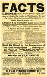 Poster Regarding Senator Langer's Old Age Pension Plan
