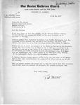 Letter from Pastor T.W. Strieter to Senator Langer Regarding Martin Sandberger, 1949
