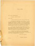 Langer response to L.R Hinegardner, July 1919