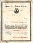 Certification of Nomination of William Langer For North Dakota Attorney General in General Election, 1918