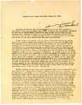 Speech delivered by William Langer over KFYR radio, August 11, 1931