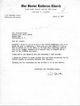 Letter from Pastor T. W. Strieter to Senator Langer Regarding Martin Sandberger, 1949