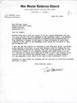 Letter from Pastor T. W. Strieter to Senator Langer Regarding Martin Sandberger, Forwarding 11 Affidavits, Requesting Langer's reply, April 21, 1949