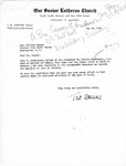 Letter from Pastor T. W. Strieter to Senator Langer Regarding Martin Sandberger, Forwarding Affidavit from Sandbergers Father, May 20, 1949,
