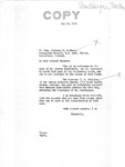 Letter from Senator Langer to Lt. Gen. Clarence Huebner, Commanding General of U.S. Army, Europe, Conveying Affidavits Attesting to the Innocence of Martin Sandberger, May 25, 1949