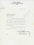 Letter from Wisconsin Adjutant General Ralph Immell to Gov. Langer regarding cancellation of his visit, 1938