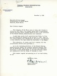 Letter from Federal Housing Administration Administrator Stewart McDonald replying to Telegram from Governor-Elect Langer Regarding National Housing Act
