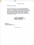 Letter from Richmond, CA Shipyard Number Two Special Investigator John Rasmussen regarding Richard Auras's Character, 1945