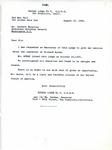Letter from Secretary of Eureka Lodge NO. 6 Wm. Rehker to Assistant Attorney General Herbert Wechsler regarding Richard Auras, 1945