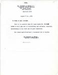 Letter from Herbert O. Weber regarding Richard Auras's character, 1945