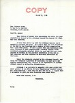 Letter from William Langer to Richard Auras in Reply to Auras's Letter Regarding His Interment Status Decision, 1946