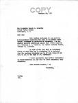 Letter from Senator Langer to Senator McCarthy forwarding Documents regarding Martin Sandberger from Reverend Strieter, 1950